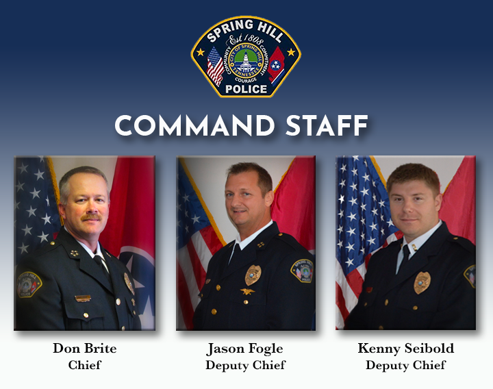 SHPD Command Staff Graphic