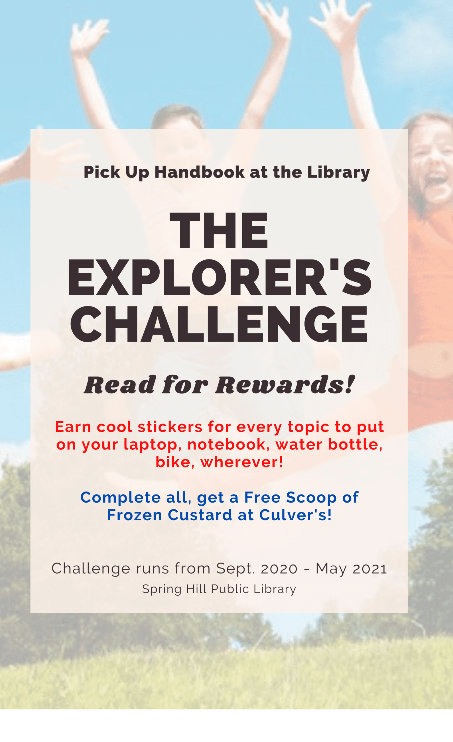 The Explorers Challenge Flyer for FB